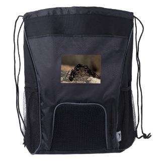 ants kissing drawstring backpack