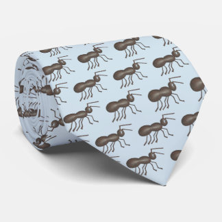 Ants Marching Picnic Ant Black Blue Insect Print Neck Tie