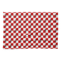 Ants Picnic Marching Bugs Red Checked Design Kitchen Towels