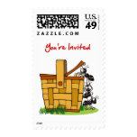 Ants Raiding Picnic Basket You're Invited Postage Stamps