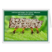 Ants Too Well Hidden Afikomen Funny Passover Card