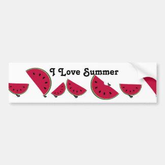 Ant's Watermelon Picnic Car Bumper Sticker