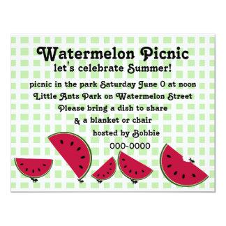 Ant's Watermleon Picnic Card