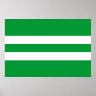 Antsla Vald, Estonia flag Poster