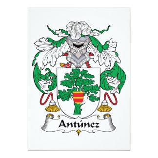 Antunez Family Crest Card