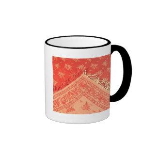 Antuque Turkey Red Linen Coffee Mug
