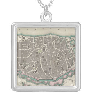 Antwerp Antwerpen Anvers Square Pendant Necklace