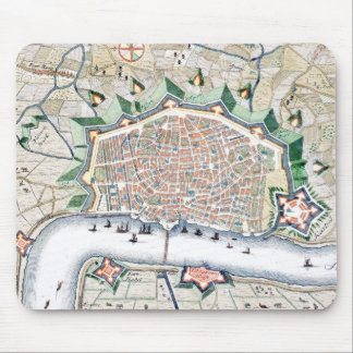Antwerp, Antwerpen Beautiful Antique Map Mouse Pad