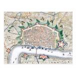 Antwerp, Antwerpen - Belgium Antique Map Post Card