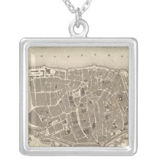 Antwerp, Belgium Square Pendant Necklace