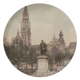 Antwerp Catherdral, Antwerp, Belgium Melamine Plate