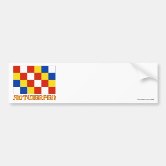 Antwerp Flag with Name Bumper Sticker