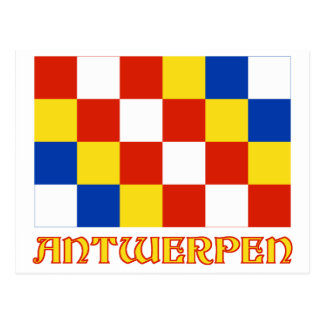 Antwerp Flag with Name Postcards