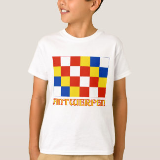 Antwerp Flag with Name T-Shirt