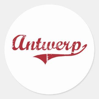 Antwerp Ohio Classic Design Classic Round Sticker