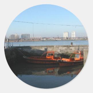 Antwerp, Scheldt support vessel 05d Classic Round Sticker