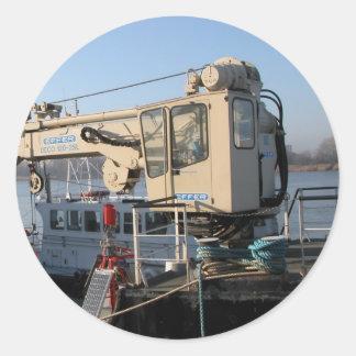 Antwerp, Scheldt support vessel 05g Classic Round Sticker