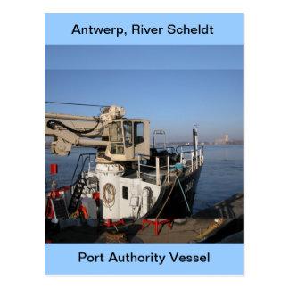 Antwerp, Scheldt support vessel 1 Postcard