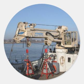 Antwerp, Scheldt support vessel Classic Round Sticker