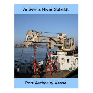 Antwerp, Scheldt support vessel Postcard