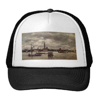 Antwerp, the Schelde by Eugene Boudin Trucker Hat