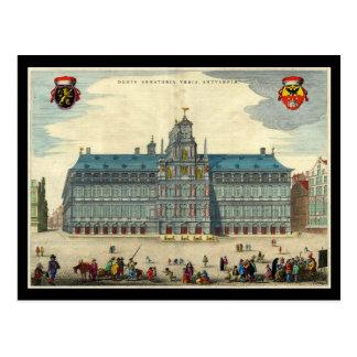 Antwerp Town Hall Postcard