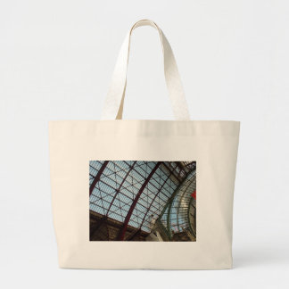 Antwerp Train Station Roof Large Tote Bag