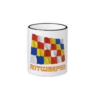 Antwerp Waving Flag with Name Mug