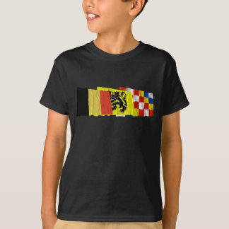 Antwerp Waving Flags Trio T-Shirt