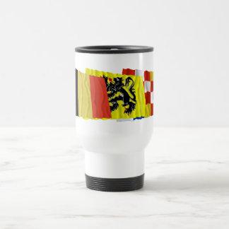 Antwerp Waving Flags Trio Travel Mug