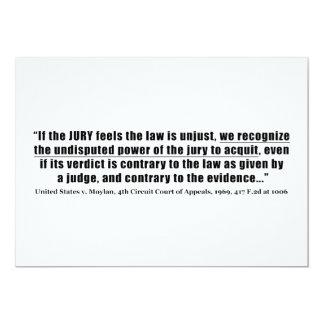 Anualación del jurado Estados Unidos v. Moylan Invitación 12,7 X 17,8 Cm
