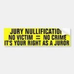 Anualación del jurado etiqueta de parachoque