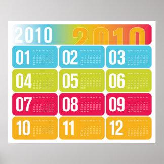 Anualmente calendario 2010 póster