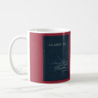 Anuario 1985 taza blanca clásica de 11 onzas