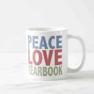 Anuario del amor de la paz taza