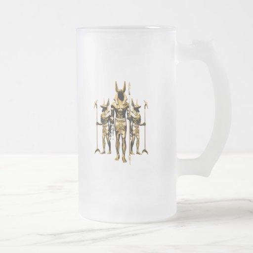Anubis 16 Oz Frosted Glass Beer Mug