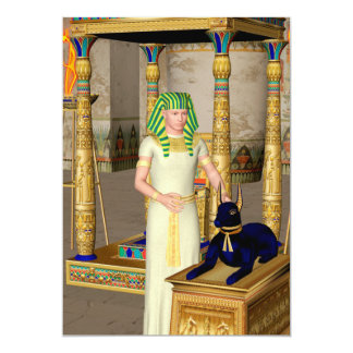 Anubis, ancient Egyptian god of the dead rituals Card