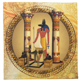 Anubis, ancient Egyptian god of the dead rituals Napkin