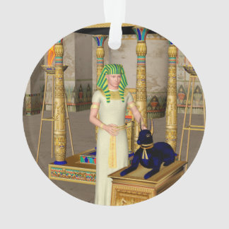 Anubis, ancient Egyptian god of the dead rituals Ornament