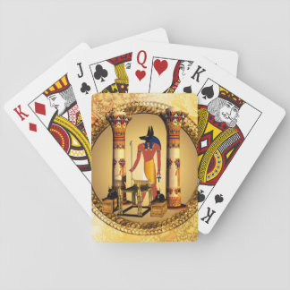 Anubis, ancient Egyptian god of the dead rituals Playing Cards