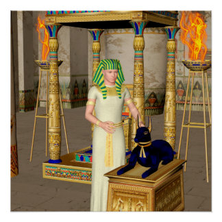 Anubis, ancient Egyptian god of the dead rituals Poster