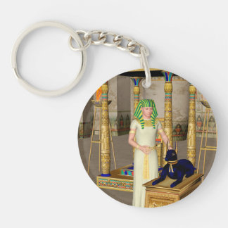 Anubis, ancient Egyptian god of the dead rituals Single-Sided Round Acrylic Keychain