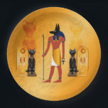 "Anubis, ancient Egyptian god Paper Plate<br><div class=""desc"">Anubis,  ancient Egyptian god of the dead rituals</div>"