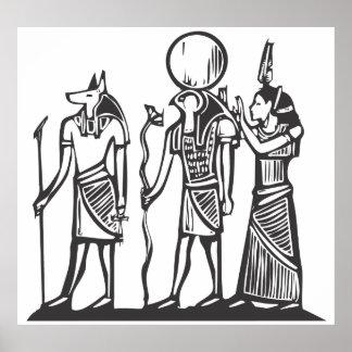 Anubis and Horus Poster