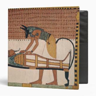 """Anubis asiste a la momia de Sennedjem Carpeta 1 1/2"""""""