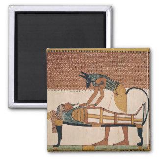 Anubis asiste a la momia de Sennedjem Iman De Frigorífico