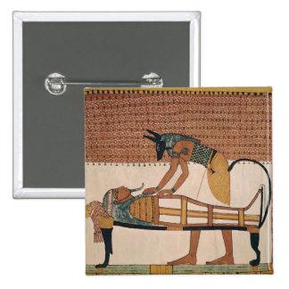 Anubis asiste a la momia de Sennedjem Pin Cuadrado