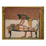 Anubis asiste a la momia de Sennedjem Póster