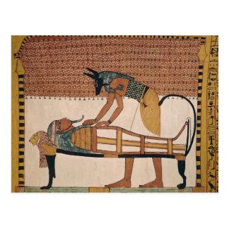Anubis attends Sennedjem's Mummy Postcard
