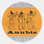 Anubis Classic Round Sticker